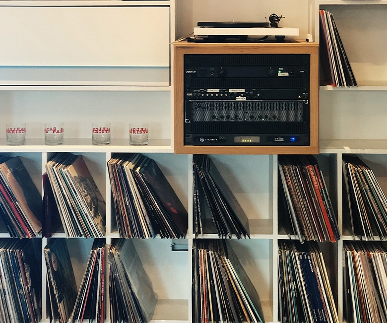 Moving a record collection and audio equipment
